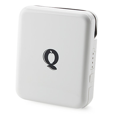 Stilig Mobile Power Pack med AC Plug for iPhone og More (1700 mAh)