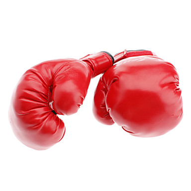 Red PU Leather Soft Boxing Gloves for Children