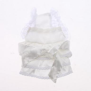 Hochzeitsspitze Stil Kleid für Hunde (XS-XL, weiß)