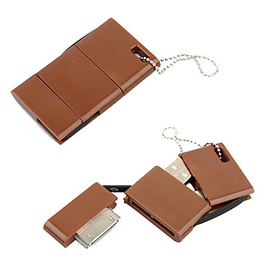 2 in 1 Keychain Style 30 Pin and Micro USB to USB Cable Kit for iPhone 4 and Galaxy S3 (Random Color)