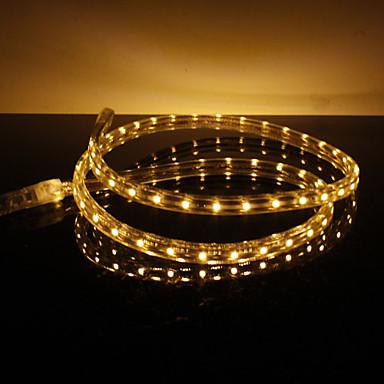 Wasserdicht 3.5W / M 3528 SMD Warm White Light LED-Streifen-Lampe (220V, Länge wählbar)