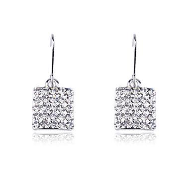 Druppel oorbellen Kristal Legering Zilver Gouden Sieraden Voor Feest Dagelijks Causaal 2 stuks