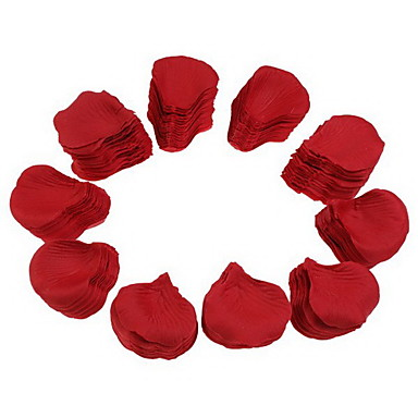 Wedding Party Red Silk Rose Petals (2000-Pack)