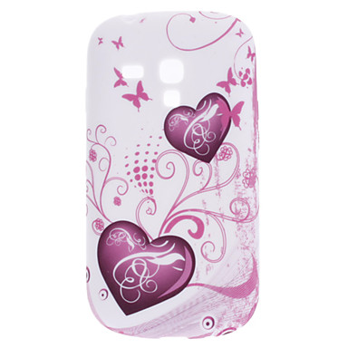 Heart-Shaped Pattern Soft Case for Samsung Galaxy S3 Mini I8910