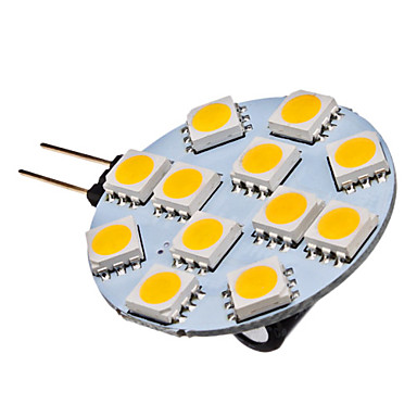 G4 LED Spotlight 12 SMD 5050 70lm Warm White 2700K DC 12V