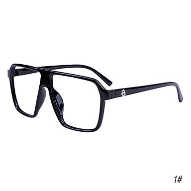 Unisex Vintage Square vanlig glass Spectacles