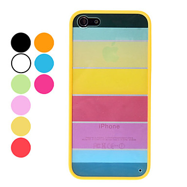 Funda Dura Duradera con Diseño Arco Iris para iPhone 5 (Varios Colores)