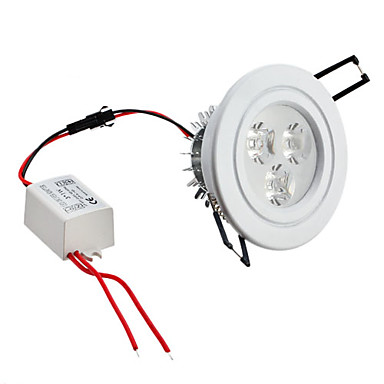 3W 3 High Power LED 270 LM Natural White Dimmable LED Ceiling Lights AC 85-265 V