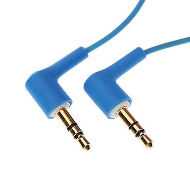 Einklappbare 3,5 mm auf 3,5 mm Audio-Kabel für Samsung Mobile Phone ua (verschiedene Farben)
