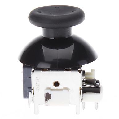 XBOX360 Wireless Controller için yedek 3D Rocker Joystick Cap Shell Mantar Caps (Siyah)