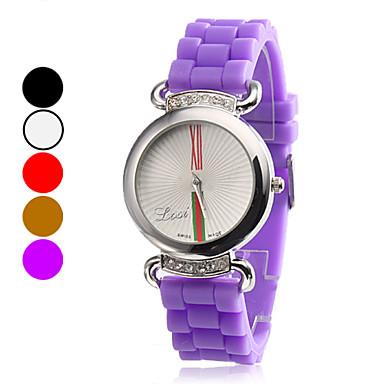Damen Silikon Analog Quarz-Armbanduhr (verschiedene Farben)