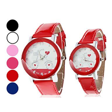 Coppia di orologi al quarzo PU Coppia Analog (colori assortiti)