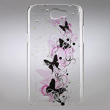 Elegant Butterfly Pattern Hard Case for Samsung Galaxy Note 2 N7100