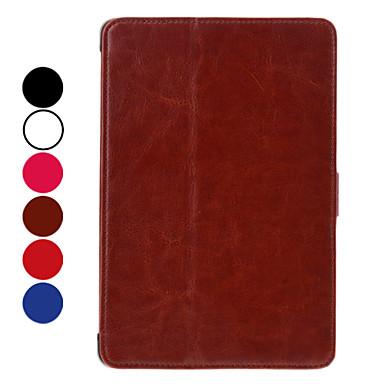 Estilo simple PU de protección estuche de cuero con ranura para tarjeta mini para el iPad (colores surtidos)