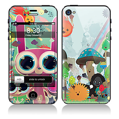 Cartoon Animals  Pattern Front and Back Full Body Protector Stickers for iPhone 5