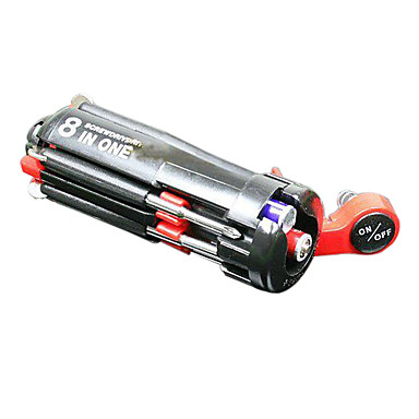 Multi-function 8-in-1 Screwdriver with LED Light