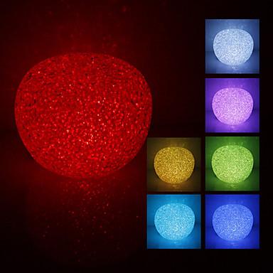 Crystal Apple Shaped Color Changing LED Night Light (USB)