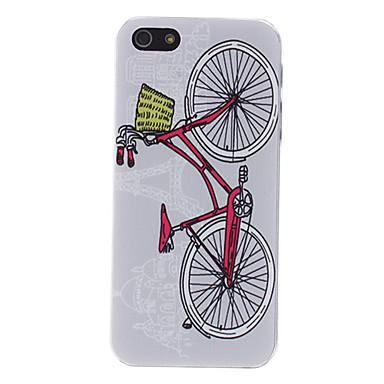 linda bicicleta padrão caso duro relevo para o iphone 5/5s