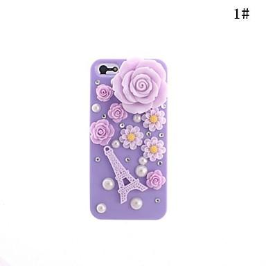 bonito Torre Eiffel flor padrão caso duro para o iphone 5/5s (cores sortidas)