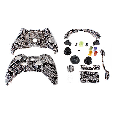 Replacement Wired Controller Case Shell for XBOX 360 (Mamba Skin)