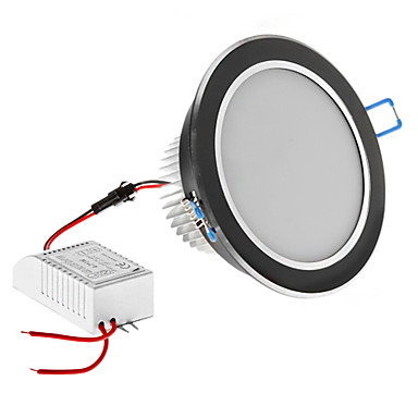 ściemniania 7W 630lm 3000-3500k warm white light black shell Żarówka LED sufitu (220V)