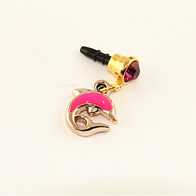 3.5mm Acrylic Zircon Dolphin Pattern Anti-dust Earphone Jack for iPhone 4/4S/5(Random Colors)