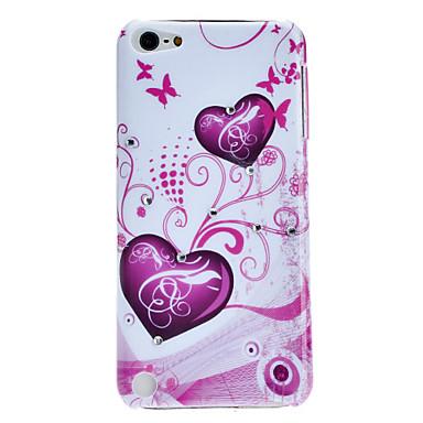 ipod touch 5 için kalp şeklinde ve kelebek desen zor durumda