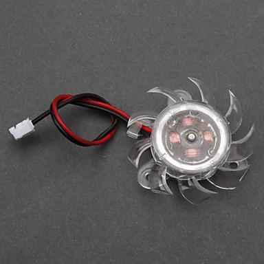 Plástico branco PC Cooling Fan chassis (4cm) ECS002986
