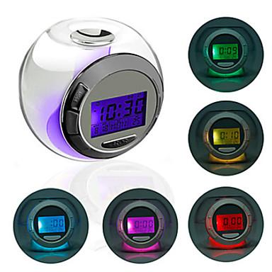 Crystal Ball Style Colorful Light Digital Alarm Clock Calendar Thermometer Timer (3xAAA)