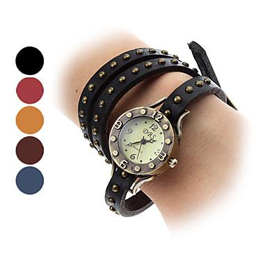 Unisex Fashionable Style Analog Leather Quartz Bracelet Watch (Assorted Colors)