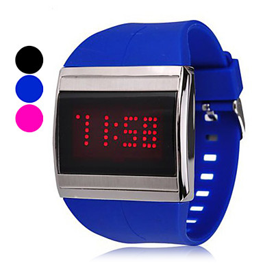 Touch Screen Unisex Silikon-Band LED Digital Armbanduhr (Farbe sortiert)