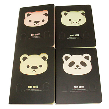Cute Cartoon Animal modello Notebook (colori casuali)