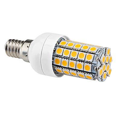 E14 6W 59x5050SMD 540LM 2800-3500K Warm White Light Bulb LED milho (220-240V)