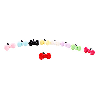 Plast bowknot Pattern Anti-støv Plug (tilfeldige farger)