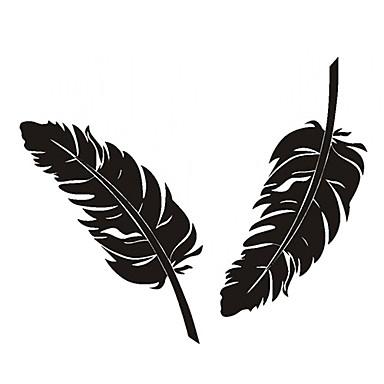 Küçük Feather Desen Araba Dekoratif Sticker