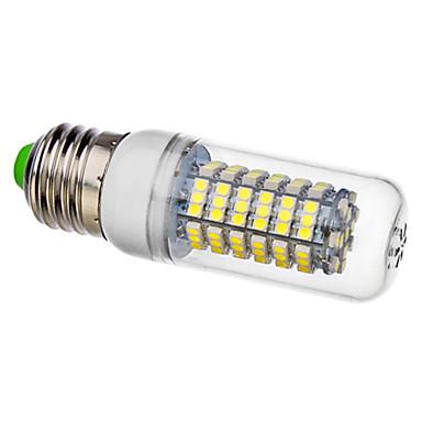 270lm E26 / E27 LED Corn Lights T 120 LED Beads SMD 3528 Natural White 220-240V