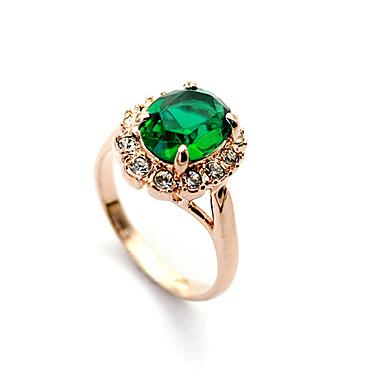 anillo de esmeraldas lureme®green hecha con cristal austriaco