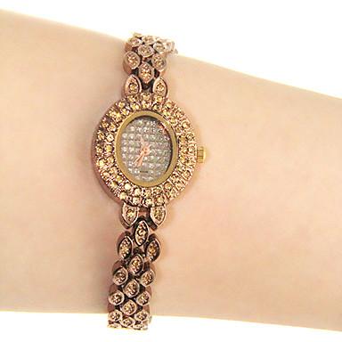 Vintage quartz analogique montre-bracelet d'or des femmes