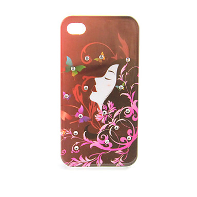 Flying Hair Floral Girl Hard Case for iPhone 4/4S
