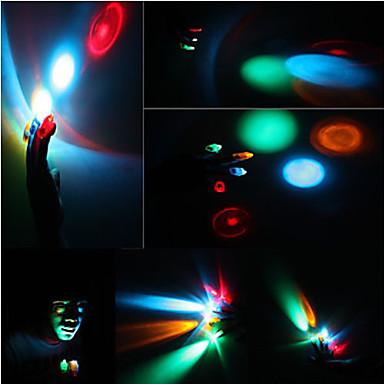 1 pcs colorida a laser levou luz dedo (cor aleatória)