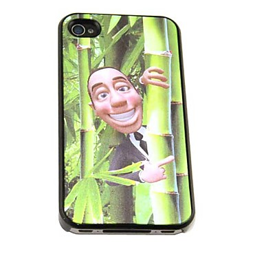 3D Changeable Funny Frog Man Pattern Hard Case for iPhone 4/4S