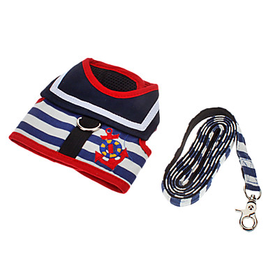 Köpek Koşum Takımı Tasma Kayışı Ayarlanabilir / İçeri Çekilebilir Çizgi Tekstil Kırmzı Mavi Beyaz/Kırmızı Beyaz/Mavi