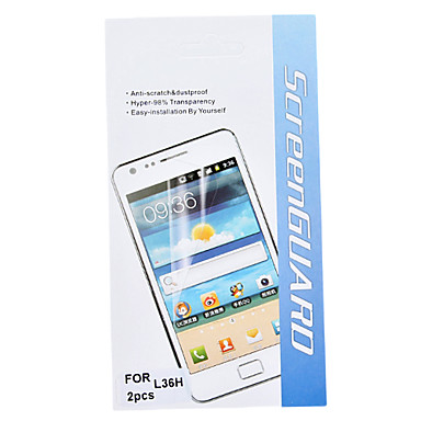 HD Front and Back Screen Protector with Cleaning Cloth for Sony Xperia Z L36h