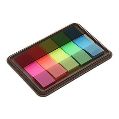 44x12mm 5 cores cartão de índice de fluorescência com Box Set (cor aleatória)