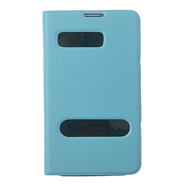 Blue PU Leather Full Body Case with Stand for Samsung Galaxy Note2 N7100
