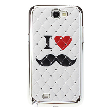 Love Mustache Pattern Starry Hard Case for Samsung Note 2 N7100