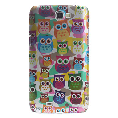 3D Effect Owl Pattern Hard Case for Samsung Galaxy Note 2 N7100
