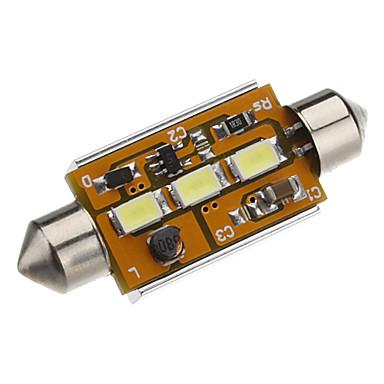 Festoon 41 milímetros 1.5W 3x5730SMD White Light Lâmpada LED para carro lâmpada de leitura CANBUS (12-24V DC)