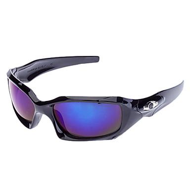 Unisex Blå Lens Sort Frame Rectangle Sportsbriller