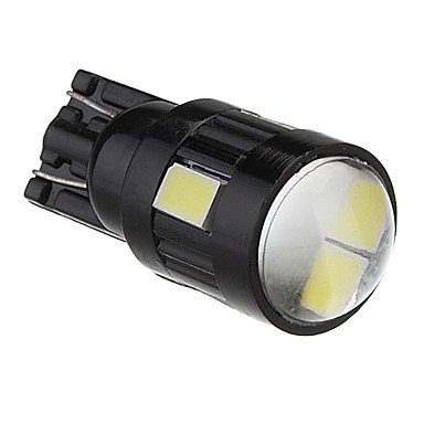 T10 2W 6x5730SMD White Light LED pære til bil Lamp (DC 12V)
